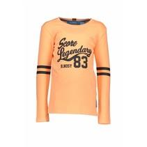 Longsleeve garment dye shirt neon orange