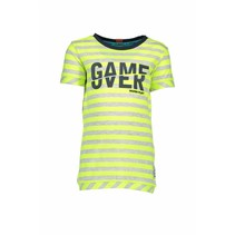 T-shirt stripe neon yellow ecru melee