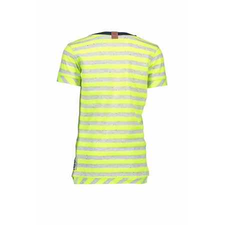 B.Nosy B.Nosy T-shirt stripe neon yellow ecru melee