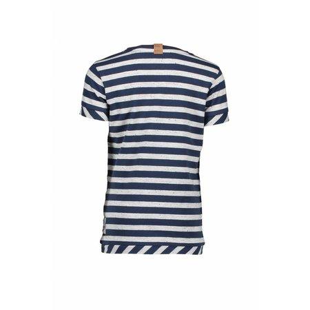B.Nosy B.Nosy T-shirt stripe midnight blue ecru melee