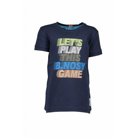 B.Nosy B.Nosy T-shirt basic with multi color print midnight blue