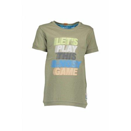 B.Nosy B.Nosy T-shirt basic with multi color print fern green