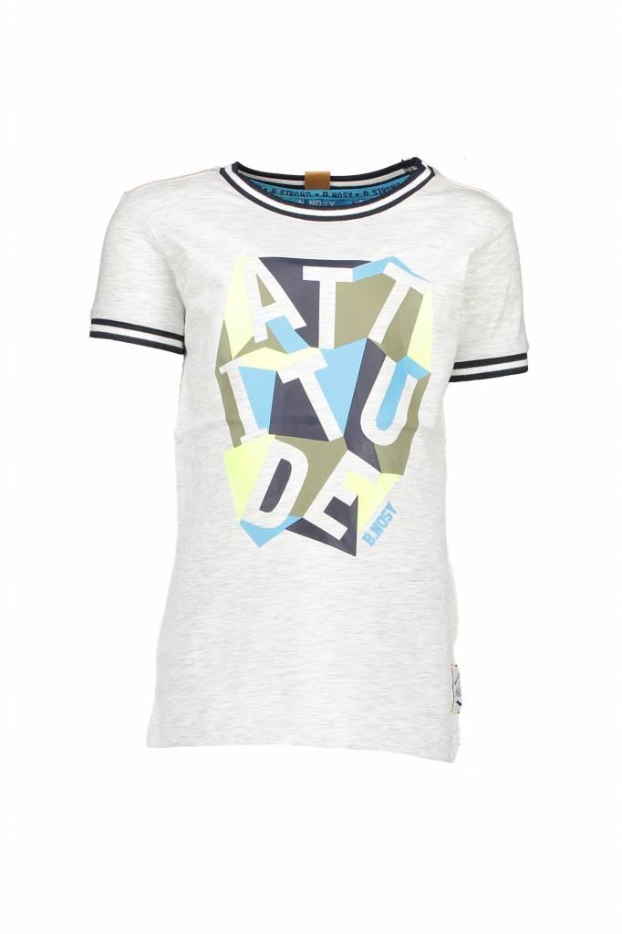 B.Nosy B.Nosy T-shirt attitude ecru melee