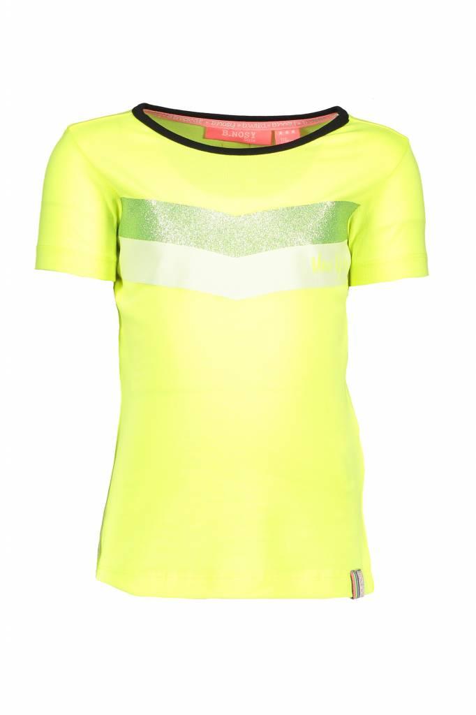 B.Nosy B.Nosy T-shirt with v-shape print electric yellow