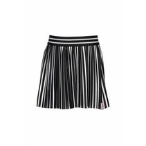 Rokje stripe plisse black