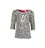 B.Nosy B.Nosy longsleeve with star print sleeves with tunderstorm print white panther black/ alloy ao