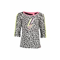 Longsleeve with star print sleeves with tunderstorm print white panther black/ alloy ao