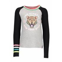 Longsleeve raglan tiger grey melee