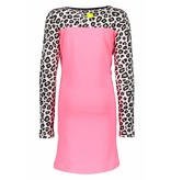 B.Nosy B.Nosy jurk with contrast print sleeves candy