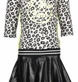 B.Nosy B.Nosy jurk skater with coated skirt part white panther black/ alloy ao