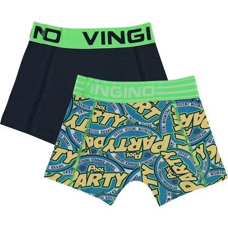 Vingino Vingino boxershorts 2-pack party dark blue