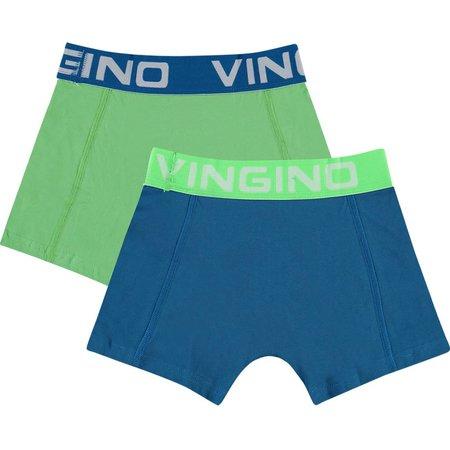 Vingino Vingino boxershorts 2-pack solid pool blue