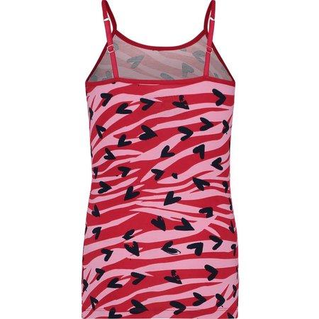 Vingino Vingino singlet zebra love denim pink