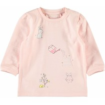Longsleeve Bibi strawberry cream
