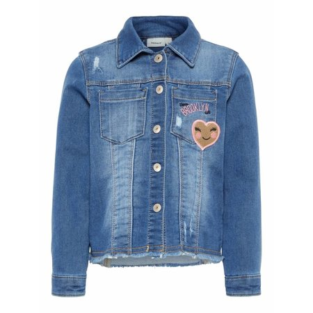 Name It Name It spijkerjasje Badea medium blue denim