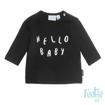 Longsleeve hello baby made with love zwart