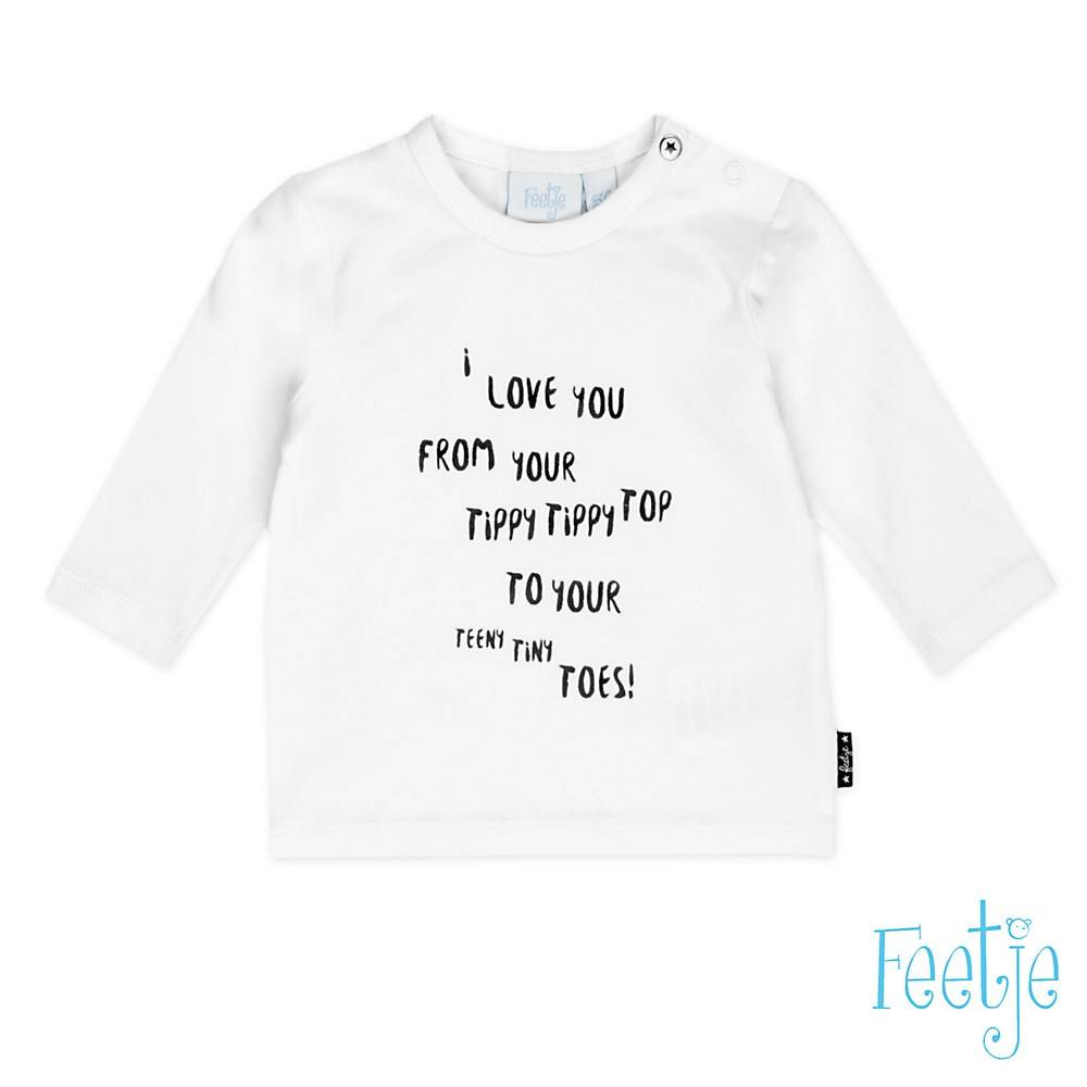 Feetje Feetje longsleeve love you made with love wit