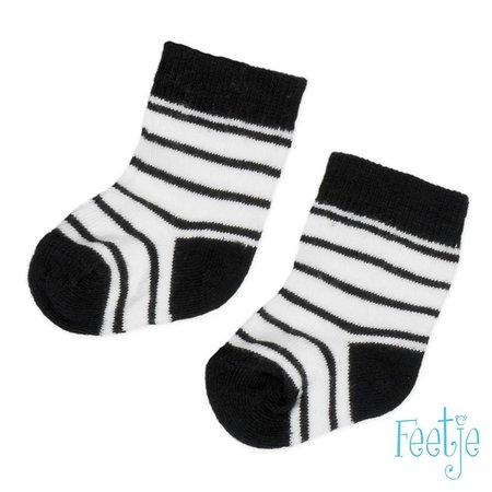 Feetje Feetje sokjes streep made with love wit