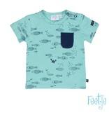 Feetje Feetje T-shirt aop ocean life mint