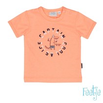 T-shirt captain cool neon oranje