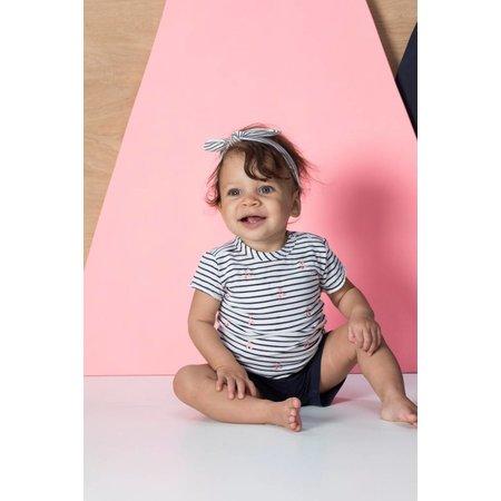 Feetje Feetje T-shirt streep/aop cherry sweet marine