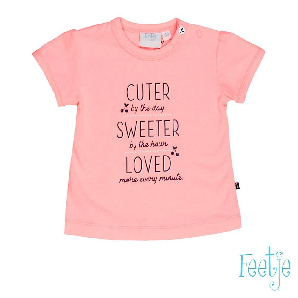 Feetje Feetje T-shirt cuter sweeter cherry sweet roze