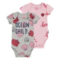 Rompers 2-pack Prue baby pink