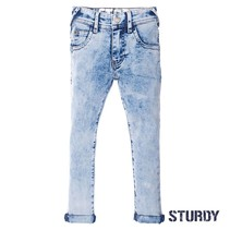 Spijkerbroek light blue slim fit denim