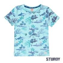 T-shirt aop scuba mint