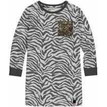 Jurk Sabien grey zebra
