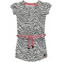 Jurk Saar 1 grey zebra