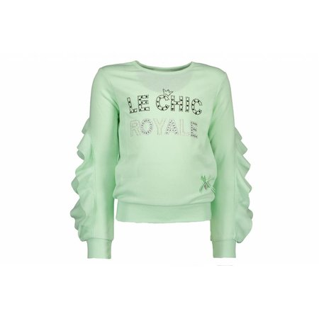 Le Chic Le Chic trui ruffle royale misty green