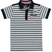 Polo Shane navy stripe