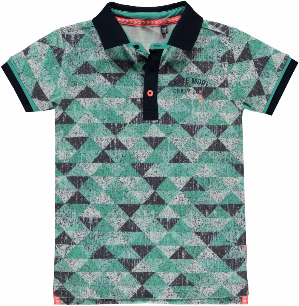Quapi Quapi polo Sherman ocean green triangle