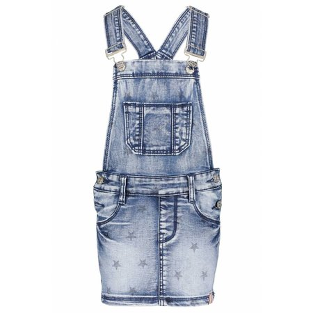 B.Nosy B.Nosy jurk dungaree with star print denim
