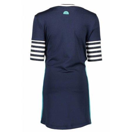 B.Nosy B.Nosy jurk with rib sleeves midnight blue