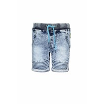 Short with rope in waistband light denim