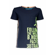 T-shirt with print on side seam midnight blue