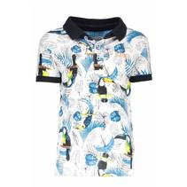 Polo with ao print toucan ecru melee