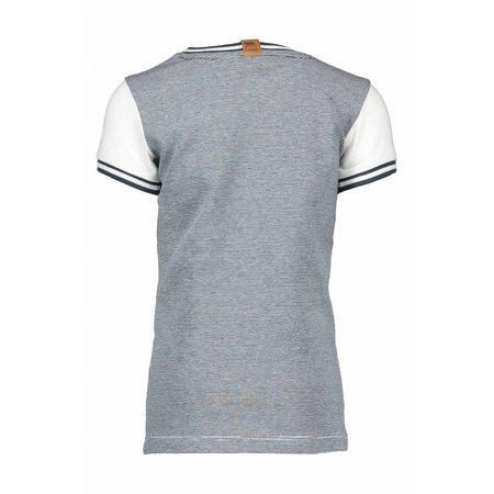 B.Nosy B.Nosy T-shirt safari with rib at neck and sleeves chalk white