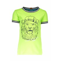 T-shirt lion with rib at neck and sleeves neon yellow