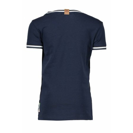 B.Nosy B.Nosy T-shirt fearless with rib at neck and sleeve midnight blue