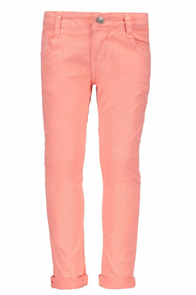 B.Nosy B.Nosy broek with sequinces back pocket bright salmon
