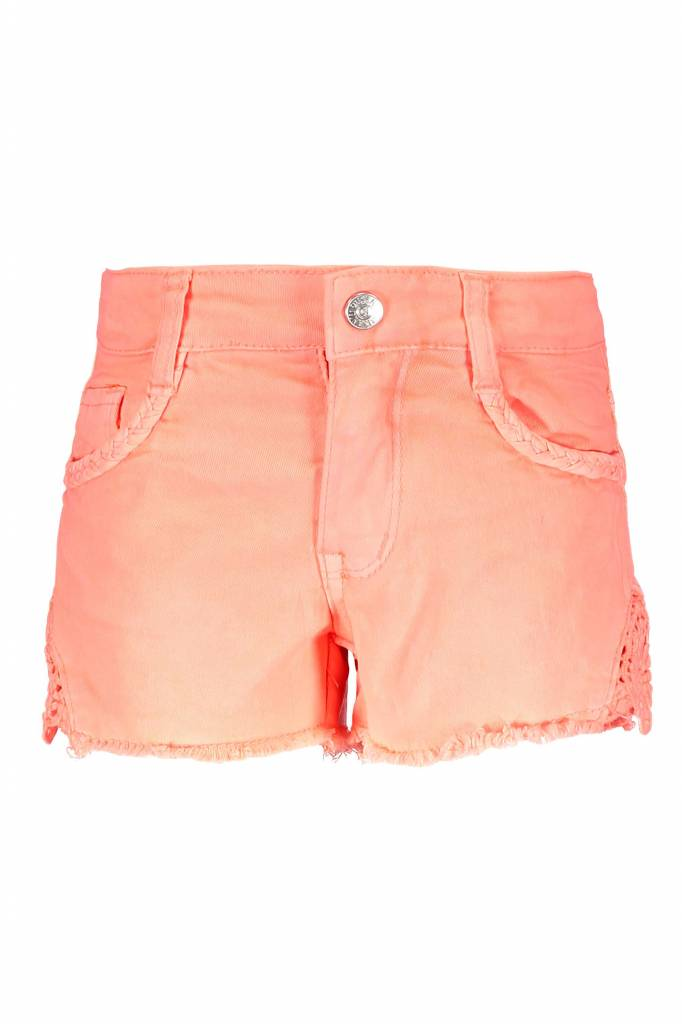 B.Nosy B.Nosy short with lace on sides bright salmon