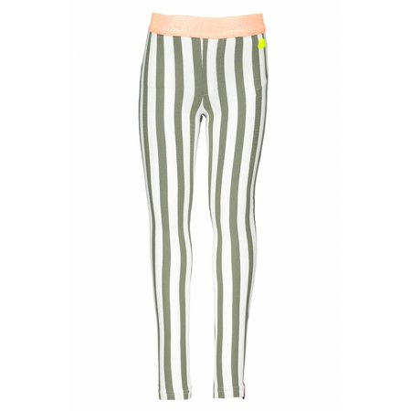 B.Nosy B.Nosy legging vertical stripe fern green white
