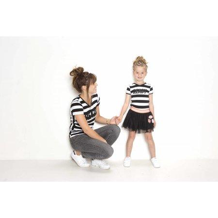 B.Nosy B.Nosy T-shirt twinning black white stripe