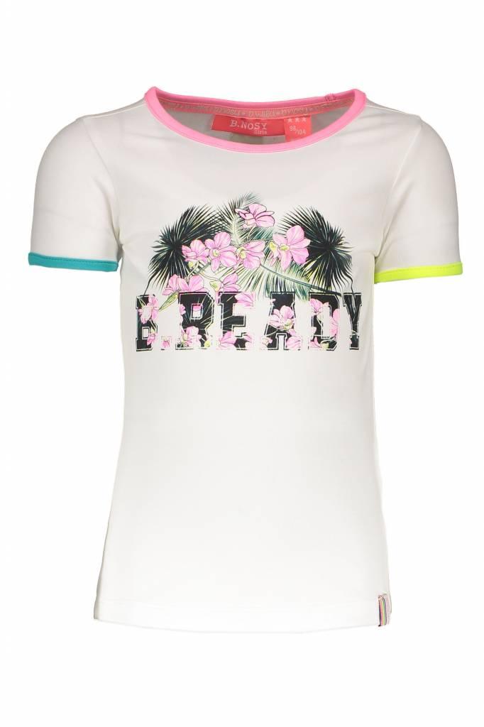 B.Nosy B.Nosy T-shirt b.ready chalk white