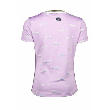 B.Nosy B.Nosy T-shirt with rib neck and sleeves cuffs sweet lilac