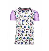 B.Nosy B.Nosy T-shirt multi color panther with rib neck ao sprinkle