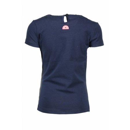 B.Nosy B.Nosy T-shirt with round smock part at neck midnight blue